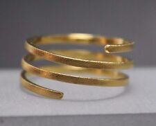 Wickelring Spiralring 750 Goldring Damenring 18 Karat diamantiert handgefertigt