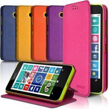 Coque Etui à rabat latéral Fonction Support Couleur pour Nokia Lumia 635 + Film