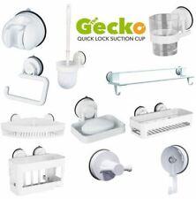 Gecko BIANCO fai da te senza ruggine accessorio da bagno ASPIRAZIONE intervallo per piastrelle e vetro
