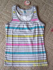 NWTs Girls So Striped layered Tank Tops Sizes XS,M & XL Gray Multi & Black Multi