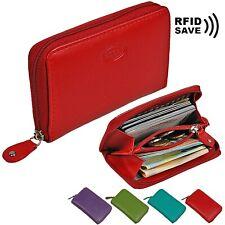 f222599024605 BOCCX Mini Reißverschluss RFID Geldbörse Leder Damen Geldbeutel Münzbörse  70009