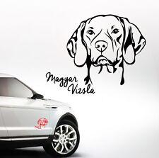 AWILPORT Auto Aufkleber MAGYAR VIZSLA Portrait Hund Hunde WILSIGNS SIVIWONDER
