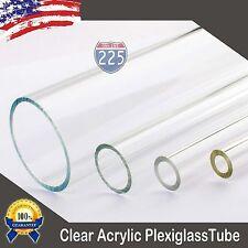 "3/8"" 1/2"" 3/4"" 1 3/8"" Diameter 24"" Long Clear Acrylic Plexiglass Lucite Tube LOT"
