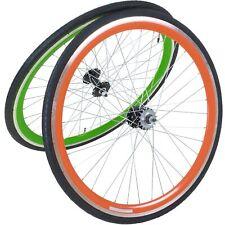28 PULGADAS 700c Viking ruedas Carreras delanteros + traseros Fixie Singlespeed