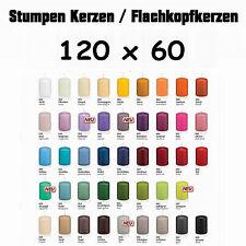 16 Stumpen Kerzen 120x60mm 1.Wahl RAL Qualität / Kerzen Wiedemann / mit Cello