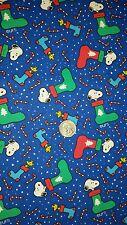 DOG BANDANA Sz XS-L Over Collar PEANUTS STOCKING TOSS Snoopy CHRISTMAS Blue 2004