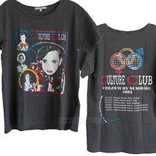 Junk Food Culture Club 30 Year Wash Pigment Dye Destroyed Finish tshirt Women NW