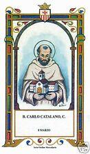 SANTINO HOLY CARD BEATO CARLO CATALANO MERCENARIO