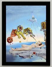"Salvador Dali ""Dream..."" canvas print framed giclee 6.8X8.8&10X13,6 reproduction"
