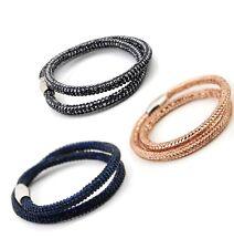 Sparkle Strand  Wrap Bracelet Can Be Necklace Choker Magnetic Clasp
