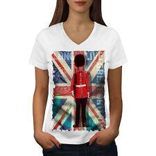 English Guard Drapeau Femmes T-Shirt col V nouveau | wellcoda