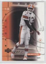 2001 Upper Deck Ovation #23 Spergon Wynn Cleveland Browns Football Card