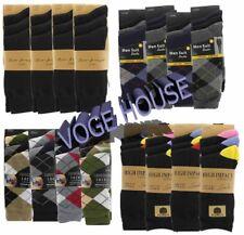 Mens socks 6 to 12pairs Tartan Plain colour socks size  Cotton Rich Stretch vari