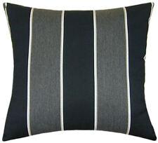 Sunbrella Peyton Granite Indoor/Outdoor Striped Pillow