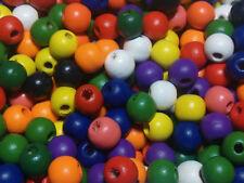 12 mm (aprox) cuentas de madera bolas de madera con agujero de 3 mm (aprox) - (MIX COLORES)