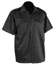 Army BDU Hemd Schwarz - kurzarm - US Feldhemd Outdoor Shirt Uniform Gothic ebm