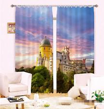 3D Schloss himmel 6 Blockade Foto Vorhang Druckvorhang Vorhänge Stoff Fenster DE