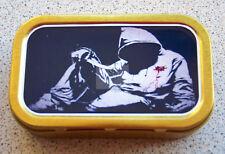 Banksy Hoodie Knife Crime Art Tin1 & 2oz Tobacco/Storage Tins
