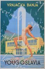 Vintage Banja Yugoslavia Serbia Tourism Poster A3/A4 Print