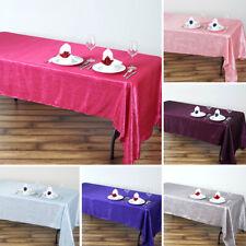 """5 pcs RECTANGLE 60x126"""" Crinkled Taffeta TABLECLOTHS Wedding Party Kitchen Linen"""