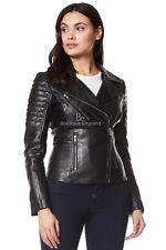 Ladies Real Leather Jacket Black Stylish Fashion Designer Soft Biker Style 9334