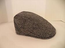 Irish Hanna Hat black gray speckled tweed flat cap classic Ireland vintage style