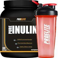 Pro Elite 100% Pure Inulin Fructo-Oligosaccharide (FOS) 500g TUB - Natural +Shak