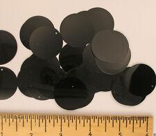 Sequins Black 30mm Paillettes / Flat 50 or 250 (25% Discount) pieces Loose