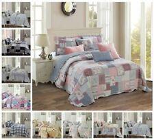 Bedspread 3 Piece Printed Patchwork Comforter Bed throw Bed Vintage Quilt  Set