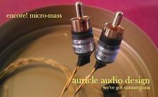 "Auricle Audio Design. The ""Encore!"" Micro-Mass RCA"