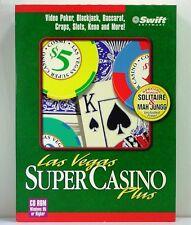 LAS VEGAS SUPER CASINO PLUS - PC CD-ROM for WINDOWS 95 by COSMI/SWIFT (1997)