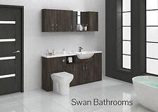Mali wengé meubles de salle de bain monté avec des unités murales 1700mm