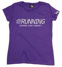 Running Cheaper Than Therapy WOMENS T-SHIRT training birthday gift running