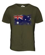 AUSTRALIA DISTRESSED FLAG MENS T-SHIRT TOP AUSTRALIAN SHIRT FOOTBALL JERSEY GIFT