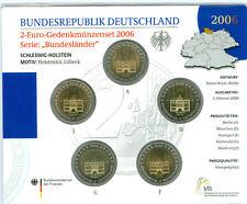 BRD 5 x 2 euro ADFGJ ST nel originalblister (scegliere tra 2006 – 2016)