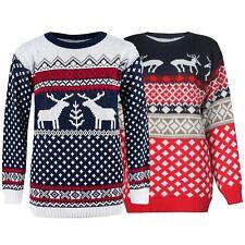 Unisex Womens Mens 70s Retro Aztec Reindeer Xmas Knitwear Christmas Jumpers