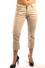 Parasuco -Size 27- $95 Khaki Brown Ladies Low Rise Slim Fit Capri Pant Denim New