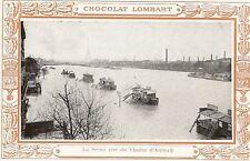 CPA CHOCOLAT LOMBART PARIS 1910 LA SEINE VUE