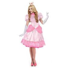 Princess Peach Costume Adult Fancy Dress Dulexe Halloween Costumes for Womens