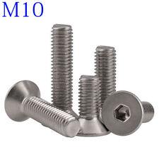 M10 316 A4 Stainless Steel Countersunk Flat Head Socket Caps Hex Screws DIN 7991