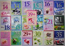 3D Geburtstagskarten mit Jahreszahl 14-39+ Jahre mit Umschlag - zum auswählen -