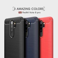 Housse etui coque silicone gel carbone Xiaomi Redmi Note 8 Pro + verre trempe