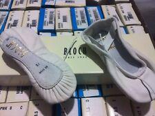 Bloch WHITE ballet shoes full leather sole, 205 205L LADIES sizes 2-8.5