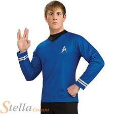 Adult DLX Mr Spock Shirt Fancy Dress Costume Star Trek Enterprise Mens Gents BN