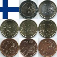 Finnland Euromünzen von 1999 bis 2019, unzirkuliert/bankfrisch