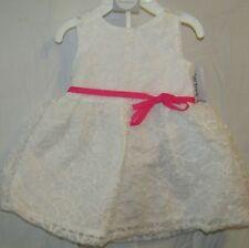 NEW CARTERS BABY GIRLS WHITE LACE DRESS 2-PIECE SET 6M