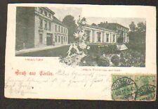 GRUSS AUS COSLIN (ALLEMAGNE) LUDTKE'S LOKAL & THEATER SAAL en 1902
