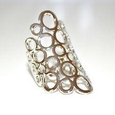ANELLO donna argento oro dorato fedina fascetta elegante anelli san valentino 11
