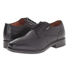 Geox Men's Alex a Black Leather Lace Up Oxford Shoes