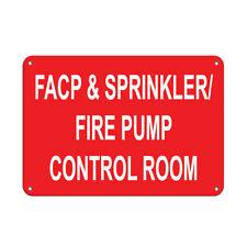 Facp & Sprinkler/ Fire Pump Control Room Fire Sign Aluminum METAL Sign
